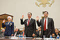 FEMA - 31303 - FEMA Administrator Paulison being sworn in before testimony.jpg