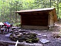FLT M10 11.2 mi - Burt Hill Lean-to, 8'x12' interior, with picnic table, rock fire ring, and open air privy - panoramio.jpg