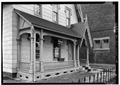 FRONT PORCH - Alfred Dunk House, 4 Pine Street, Binghamton, Broome County, NY HABS NY,4-BING,9-2.tif