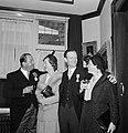 Fabrieksdirecteuren Jan (links) en Albert van Abbe in gezelschap van twee vrouwe, Bestanddeelnr 255-8551.jpg