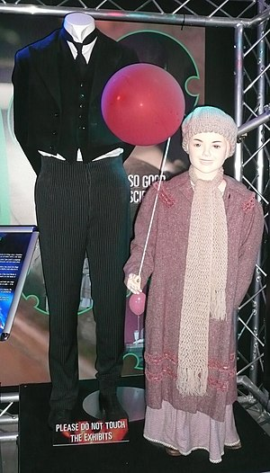 The Family of Blood - The costumes of Jeremy Baines and Lucy Cartwright, on display at the Doctor Who Experience.