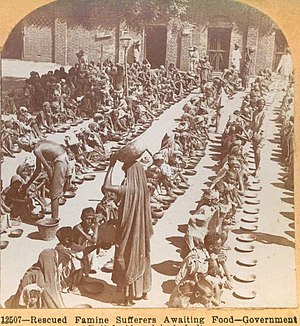 Indian famine of 1899–1900 - Image: Famine Relief Ahmedabad 1901