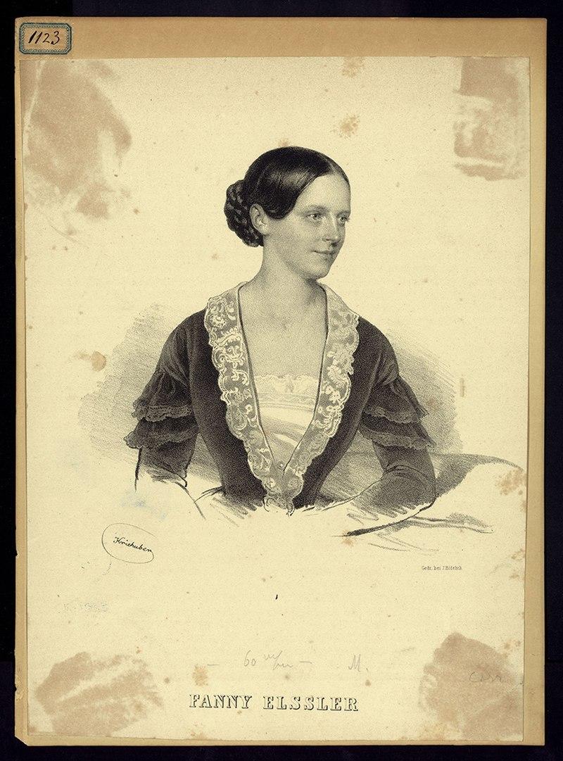 Фанни Эсслер, Джозеф Крайхубер (1845) - Архивио Сторико Рикорди ICON010515.jpg