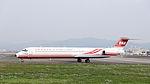Far Eastern Air Transport MD-82 B-28035 Taxiing at Taipei Songshan Airport 20150221c.jpg