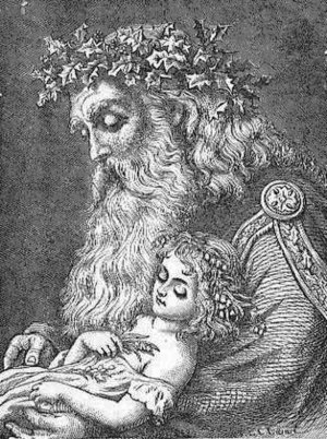 Baby New Year - A 19th century Baby New Year with Father Time