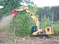 Fecon Bull Hog on Cat excavator 01.jpg