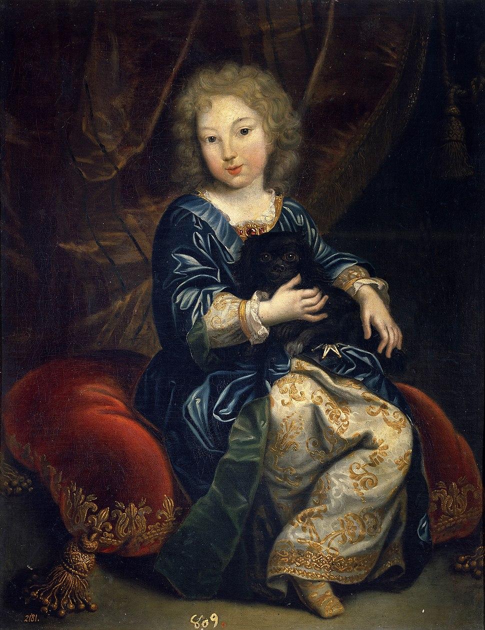 Felipe de Borbón, futuro Felipe V, niño, por Pierre Mignard