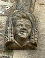 Female gargoyle on St Peter's Church, Fremington.jpg