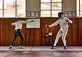 Fencing with friends at Athenaikos Fencing Club.jpg