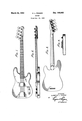 File:Fender Precision Bass \'51 patent sketch (D169062).png ...