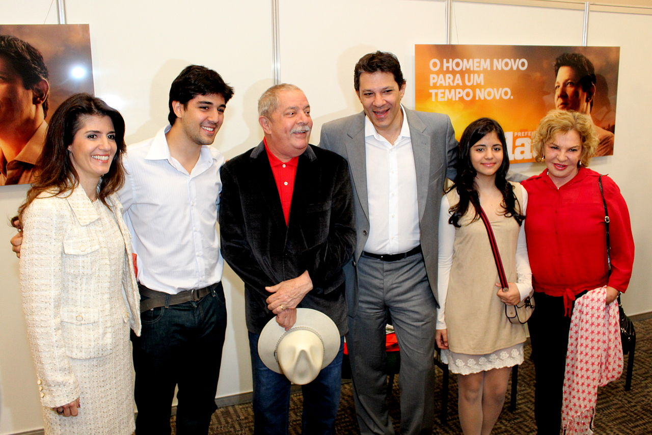File:Fernando Haddad com esposa e filhos e o ex presidente ...