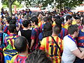 Festa culé, Barcelona-Juventus. Champions league 2015, Berlin.JPG