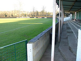 Kingstonian F.C. - Fetcham Grove. Home of Leatherhead FC and shared by Kingstonian during the 2017-18 season.