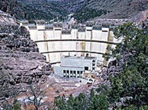 Flaming Gorge Dam - Construction work on Flaming Gorge Dam, 1962