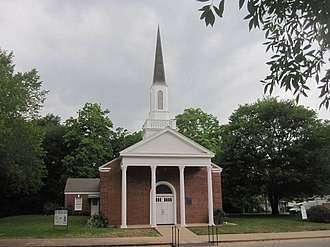 Caldwell, Texas - Historic First Presbyterian Church at 600 West Buck Street in Caldwell was first organized in the early 1840s by the Reverend Hugh Wilson.