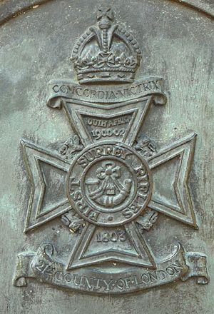 1st Surrey Rifles - Image: First Surrey Rifles Badge
