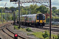 First TransPennine Express Class 350, 350407, Lancaster railway station (geograph 4499777).jpg