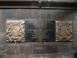 John Holles, 2nd Earl of Clare - Memorial to the 1st and 2nd Earls of Clare in St Mary's Church, Nottingham