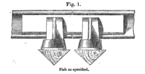 Fishplate - The first railway fishplate, patented by William Adams and Robert Richardson in 1847