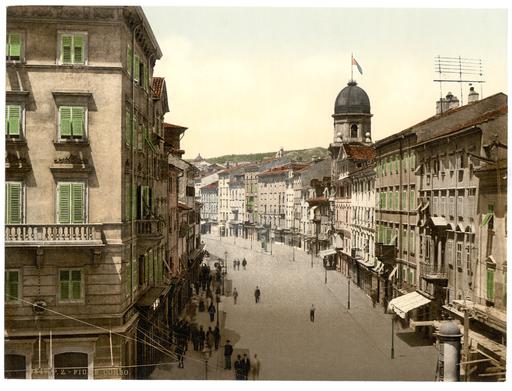 Fiume, the Corso, Croatia, Austro-Hungary WDL325