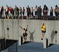 Flickr - Official U.S. Navy Imagery - Sailors jump off aircraft elevator No. 4 during a swim call aboard the Nimitz-class aircraft carrier USS Carl Vinson (CVN 70). (4).jpg