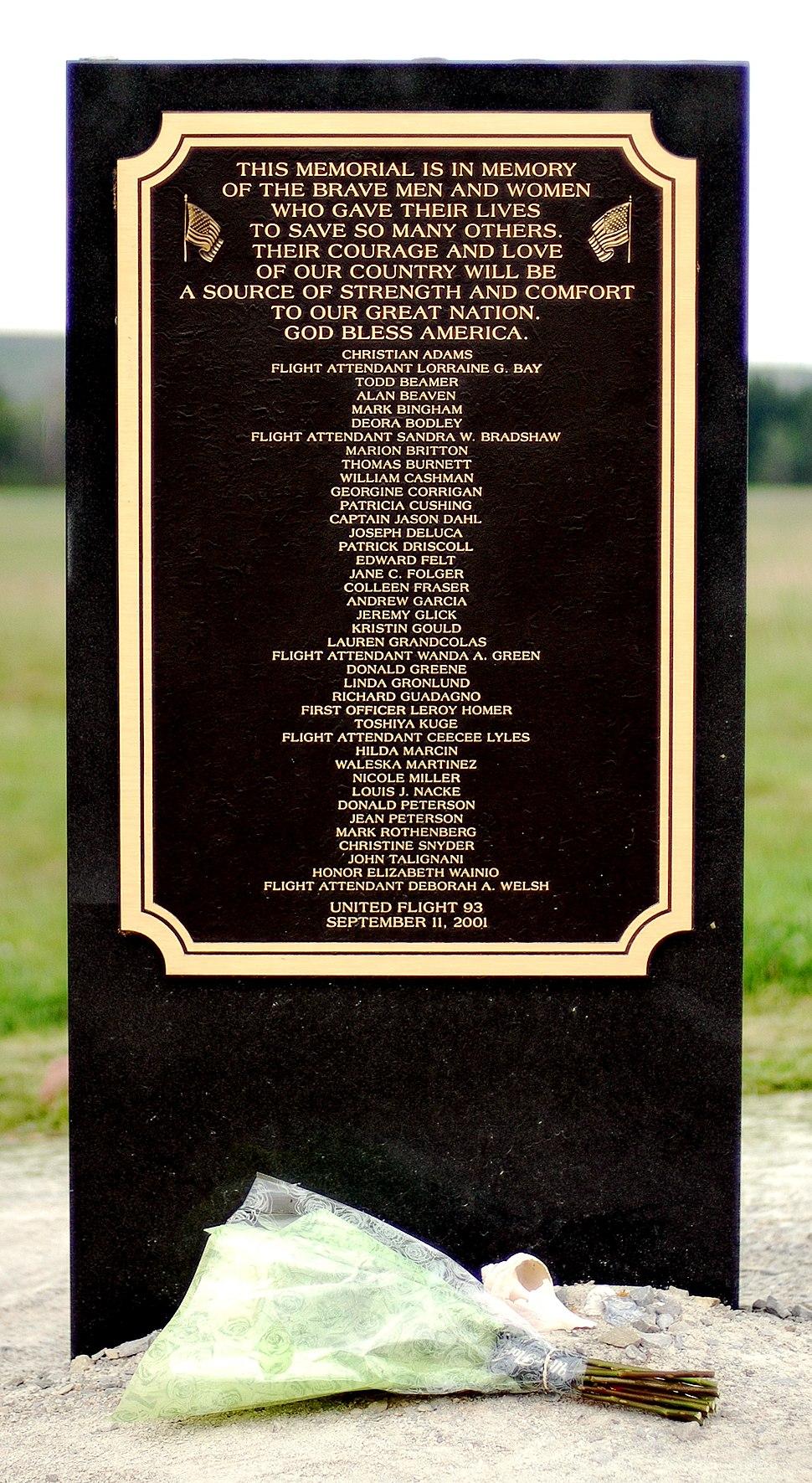 Flight93-Memorial-Plaque