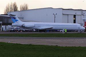 Flightline - A Flightline MD-83 parked at London Southend Airport, England. (2007)