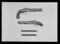 Flintlåspistol ändrad till slaglås, Pirmet, Paris ca 1810 - Livrustkammaren - 77943.tif
