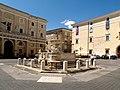 Fontana Pio IX Municipio e Collegio Conti Gentili - panoramio.jpg