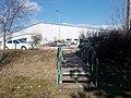 Footbridge at the Tesco Logistics Center car park, 2019 Herceghalom.jpg