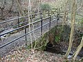 Footbridge over Range Dike, the boundary between Farnley Tyas and Thurstonland, Yorkshire - geograph.org.uk - 119003.jpg