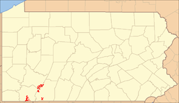 Location of Forbes State Forest in Pennsylvania