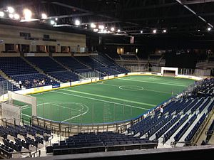 Ford Arena - Ford Arena set up for soccer in December 2014.