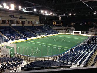 Ford Arena - Ford Arena set up for soccer in December 2014.