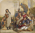 Ford Madox Brown - Chaucer at the Court of Edward III - Watercolour Version - Google Art Project.jpg