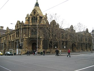 Russell Street, Melbourne - Former Melbourne Magistrate's Court on the corner of Russell and La Trobe Streets