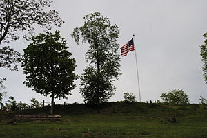Fort Boreman - A view of the hill that makes up the former Fort Boreman