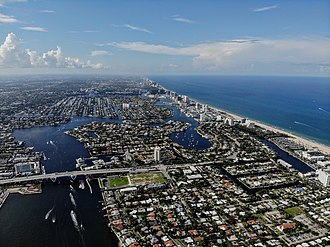 Fort Lauderdale, Florida - An aerial shot of Fort Lauderdale.