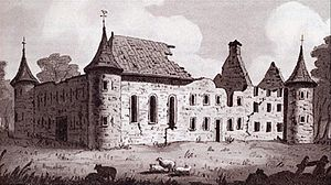Seth Warner -  A nineteenth-century sketch of the ruins of the Château fort de Longueuil, which served as Warner's headquarters in 1775