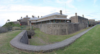 Fort Scratchley - Fort Scratchley, showing the dry moat that surrounds part of the structure