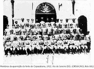 Tenentism - The Copacabana Fort garrison in 1922