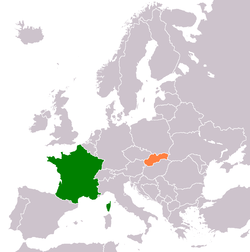 France Slovakia Locator.png
