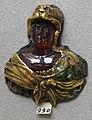 Francia, busto femminile in granato montato su oro smaltato, 1560 ca..JPG