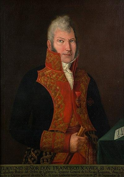 Retrato de Francisco Javier Venegas.