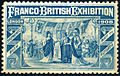 Franco-British Exhibition 1908 souvenir stamp.JPG
