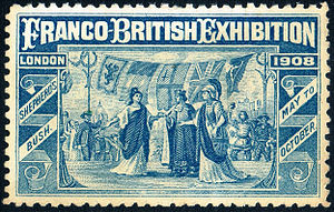Franco-British Exhibition (1908) - Franco–British Exhibition 1908 souvenir stamp