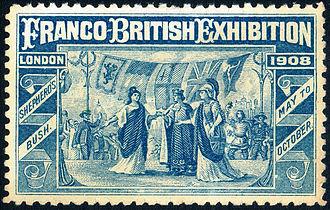 Franco-British Exhibition (1908) - Franco–British Exhibition 1908 souvenir stamp