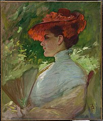 Lady with a Red Hat (Portrait of Maggie Wilson)