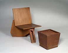 Frank Lloyd Wright, Chair and Stool.jpg