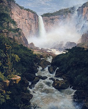 Tequendama Falls Museum - Tequendama Falls depicted in an 1854 painting